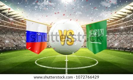 Russia vs Saudi Arabia Soccer