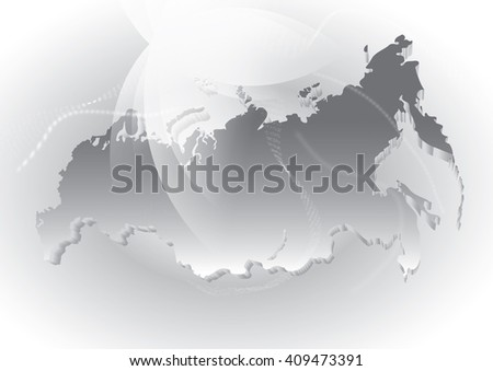 Russia Global Map.Russia World Map Grey Map Russia Stock Illustration Royalty Free