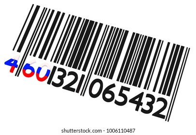 Russian barcode on a white background