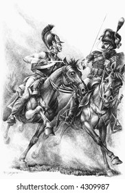 Russian cuirassier and french Guards chasseur.