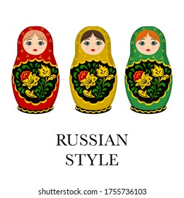 Russian dolls illustration isolated ornament