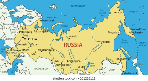 Russian Federation -  map