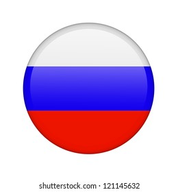 The Russian flag in the form of a glossy icon.