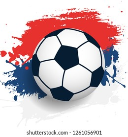 Russian flag with soccer ball.