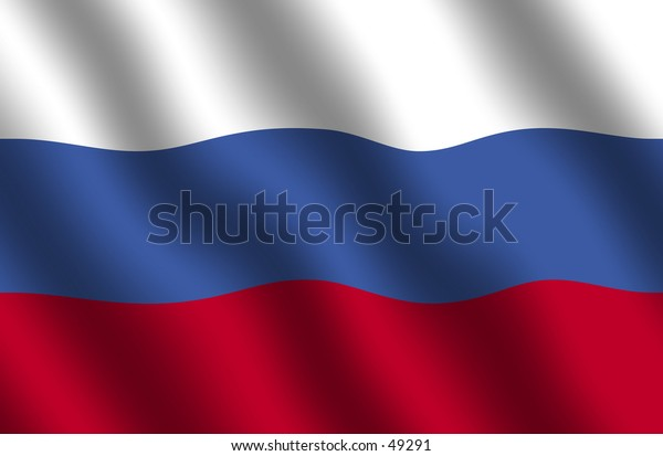 Russian Flag with waving effect