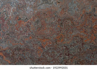 Rust and blue marbled background or texture