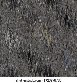 Rustic ikat mottled grey woven texture background. Chevron zig zag yarn effect fabric textile. Variegated melange all over print . Irregular uneven indian thread all over print for soft furnishing.