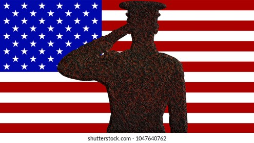 Rusty Marine Saluting the Flag
