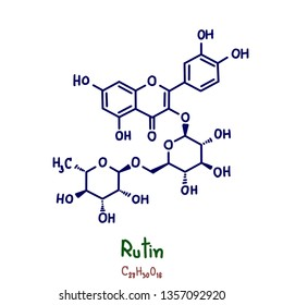Rutin, a plant flavonol from the flavonoid group of polyphenols, is found in many fruits, vegetables, leaves, and grains red onions.
