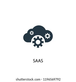 SaaS icon. Simple element illustration. SaaS concept symbol design. Can be used for web and mobile.