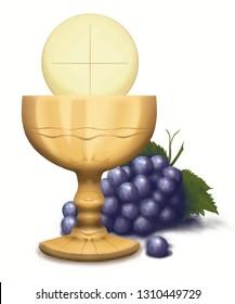 Sacrament wafer first communion wedding baptism Jesus Christ