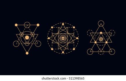 Sacred geometry, alchemy symbols