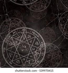 sacred geometry cabala symbol, jupiter pentacle, solomon wisdom pattern design, trending pattern, retro photo effect,  mystical sacred shapes, believe in magic, angels and demons conjuration,