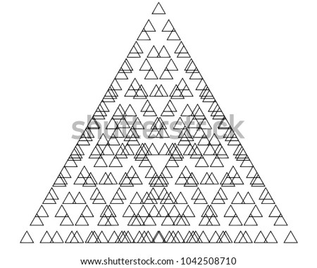sacred geometry triangle equation stock illustration 1042508710