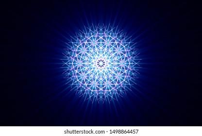 sacred symbol shining brightly mandala