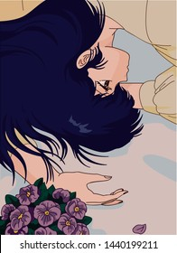 Sad Anime Girl Images Stock Photos Vectors Shutterstock