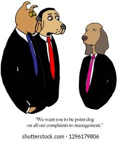 Sad beagle is head of dog complaints
