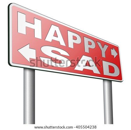 Royalty Free Stock Illustration of Sad Happy Joy Happiness Against