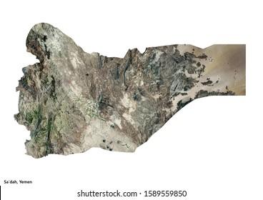 Sa`dah, Yemen, Geography (3D illustration)