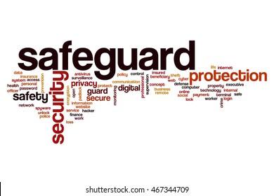 Safeguard word cloud concept