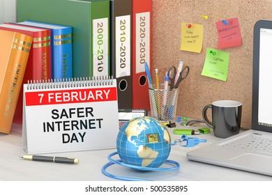 Safer Internet Day concept, 3D rendering