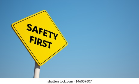 Safety Sign with Clipping Path