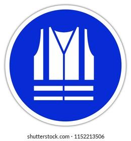 safety vest, jacket - blue sign construction site clothing in France