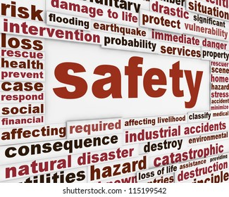 Safety warning message background. Protection poster conceptual design