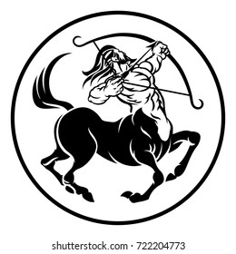 Sagittarius archer centaur horoscope astrology zodiac sign icon
