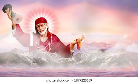 Sai Baba Images Stock Photos Vectors Shutterstock