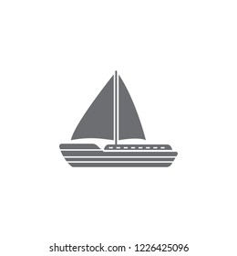 Sailing yacht icon. Simple element illustration. Sailing yacht symbol design from Transport collection set. Can be used for web and mobile