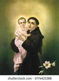 Saint Anthony with Child Jesus santo antonio