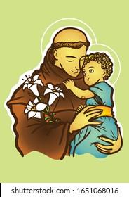 Saint Anthony of Padua or Saint Anthony of Lisbon