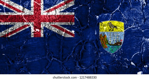 Saint Helena grunge flag, British Overseas Territories, Britain dependent territory flag