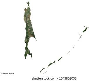 Sakhalin, Russia (3D illustration)