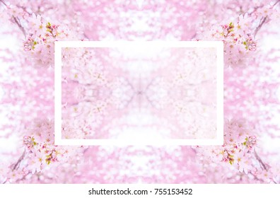 A sakura or cherry blossom bloom wedding card background for art design or graphic design. It can be use in wallpaper and background texture.