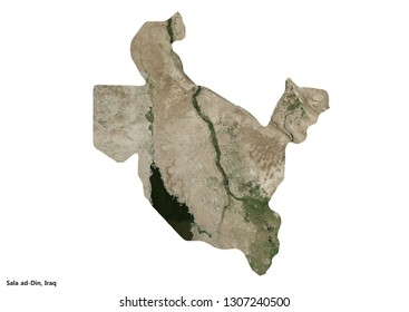 Sala ad-Din, Iraq Map (3D illustration)