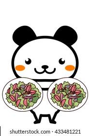 Salad and animal series