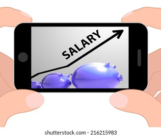 Salary Arrow Displaying Pay Rise For Workers