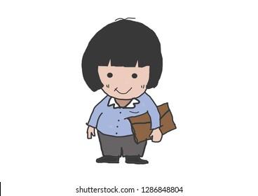 salaryman cartoon drawing
