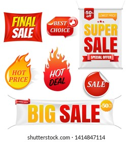 Sale Banners Big Sale Isolated Background