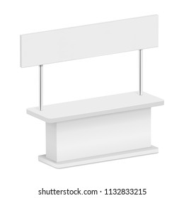 Sale kiosk mockup. Realistic illustration of sale kiosk mockup for web