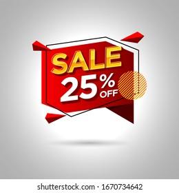 sale promotion banner 25% off