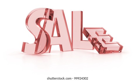 Sale tags red color in white background