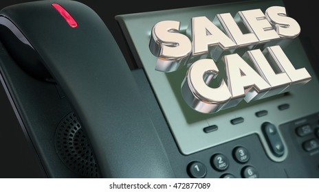 Sales Call Selling Solicit Phone Words 3d Illustration
