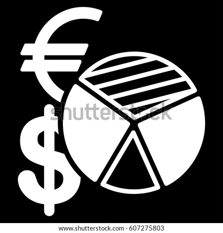 Sales Pie Chart Raster Icon Flat Stock Illustration 607275803