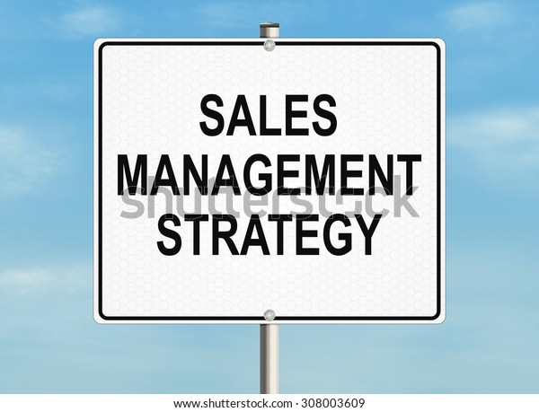 Sales process. Road sign on the sky background. Raster illustration.