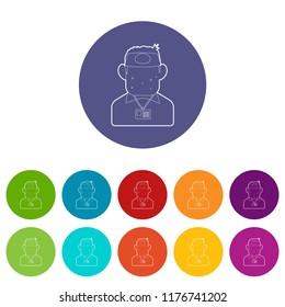 Salesman icon. Outline illustration of salesman icon for web design