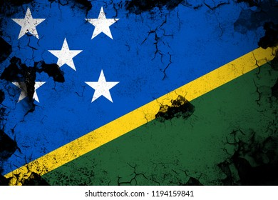 Salomon Islands grunge and dirty flag illustration. Perfect for background or texture purposes.