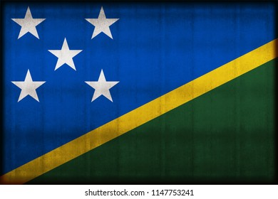 Salomon Islands rusty flag illustration. Usable for background and texture.